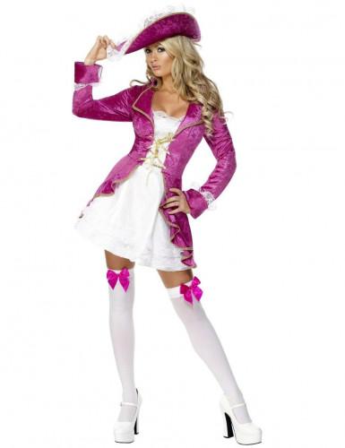 Fuchsia roze piraten pak voor vrouwen