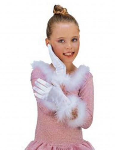 Witte handschoenen voor meisjes