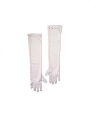 Lange witte handschoenen voor kinderen