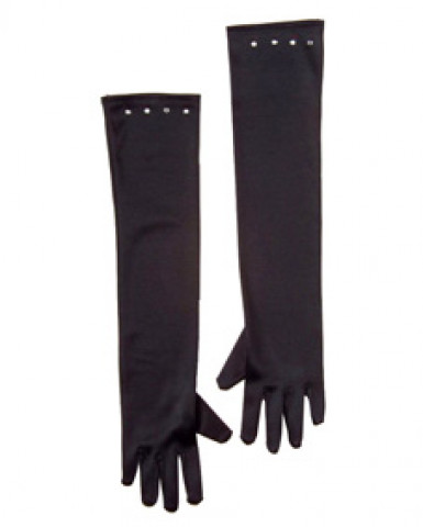 Lange zwarte handschoenen voor kinderen