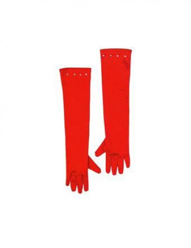 Lange rode handschoenen voor kinderen