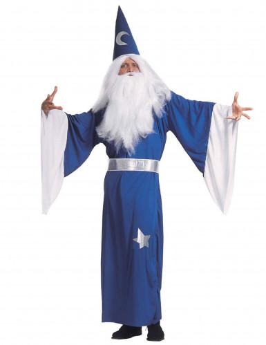Blauwe tovenaar pak voor heren