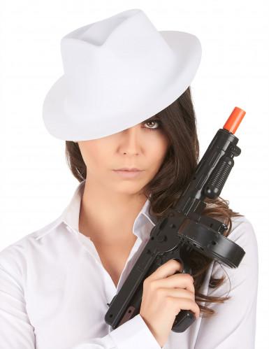 Egaal witte gangsterhoed voor volwassenen-1