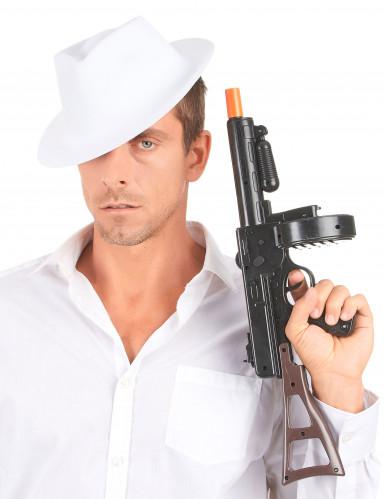 Egaal witte gangsterhoed voor volwassenen-2