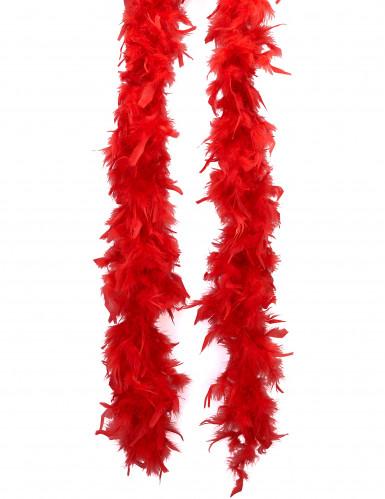 Rode donzige boa