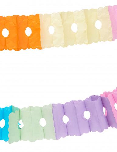 Veelkleurige papieren slinger 6 meter-1