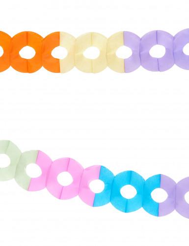 Veelkleurige papieren slinger van 2,5 meter-1