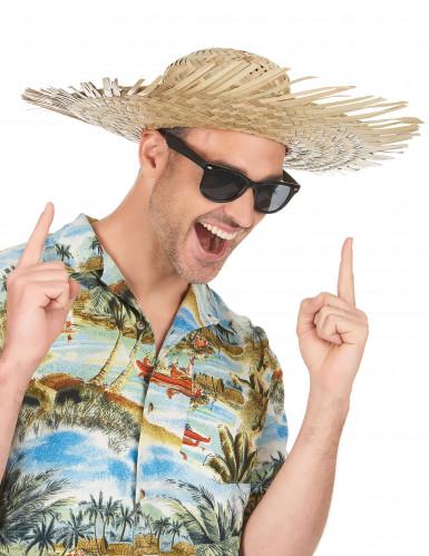 Strooien Hawaïhoed voor volwassenen-1