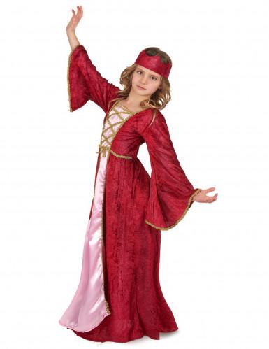 Middeleeuwse koninginnen kostuum voor meisjes-1