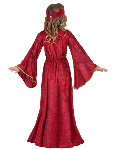 Middeleeuwse koninginnen kostuum voor meisjes-2