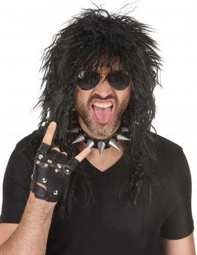Halloween hard rockpruik voor mannen