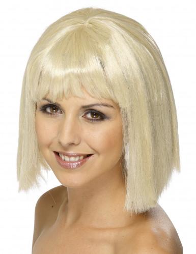 Blonde pruik met pony voor vrouwen