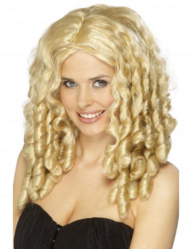 Blonde krullenpruik voor dames