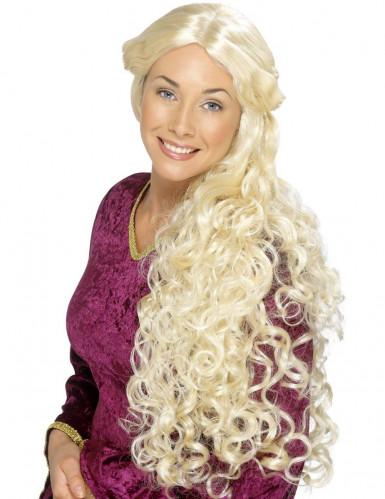 Lange blonde pruik voor volwassen