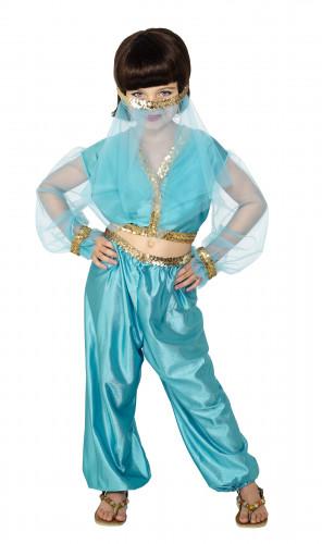 Blauw Oosterse danseres kostuum voor meisjes