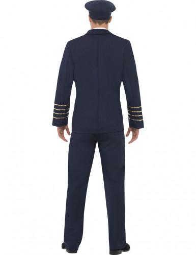 Blauw pilotenkostuum voor mannen-1