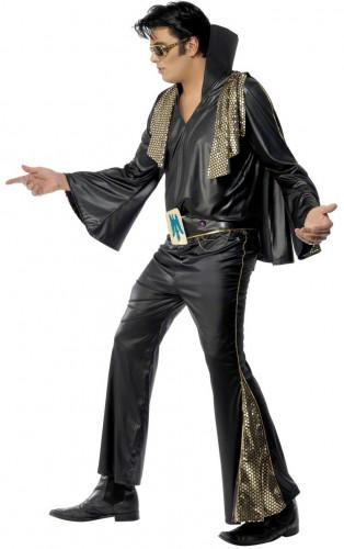Zwarte Elvis Presley™ outfit voor mannen-2