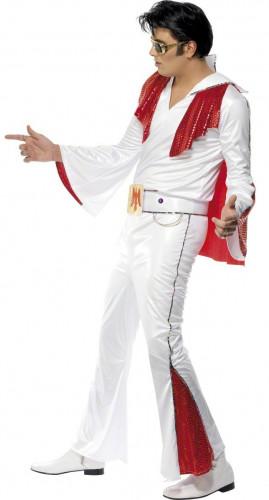 Wit en rood Elvis Presley™ kostuum voor mannen-1