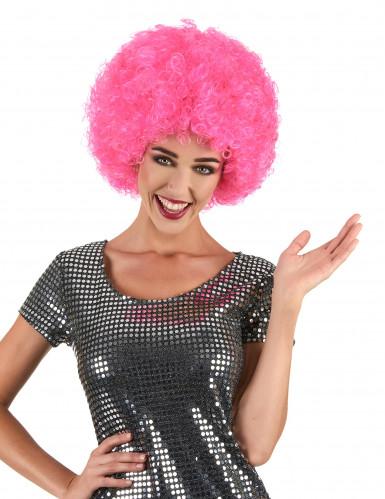 Roze disco pruik voor volwassenen - Comfort