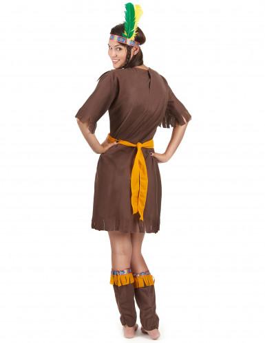 Bruine indianen kostuum voor vrouwen -2