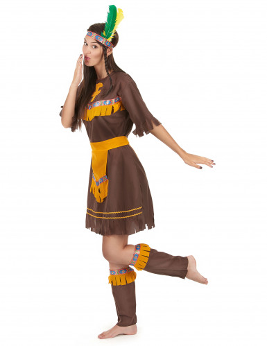 Bruine indianen kostuum voor vrouwen-1