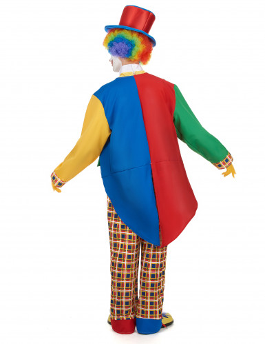 Kleurrijk clown kostuum voor mannen-2