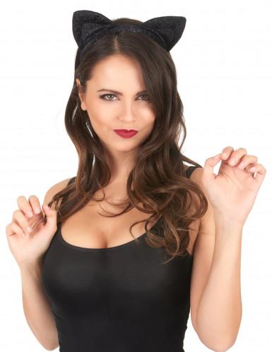 Zwarte katten oren