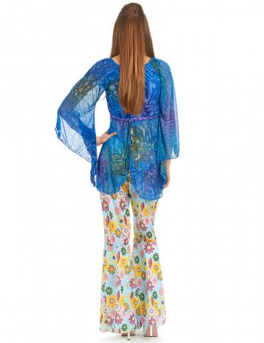 Flower Power hippie kostuum voor dames-2