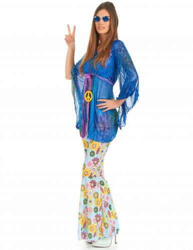 Flower Power hippie kostuum voor dames-1