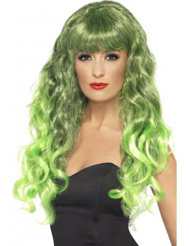 Groen gekrulde pruik voor vrouwen