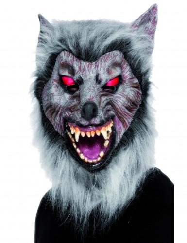 Eng weerwolf masker met vacht voor volwassenen