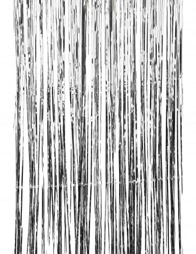 Glinsterend zilverkleurig gordijn -1