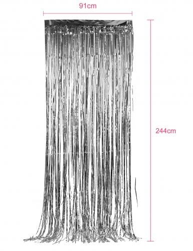 Glinsterend zilverkleurig gordijn-1