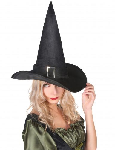 Fluwelen heksenhoed voor volwassenen Halloween