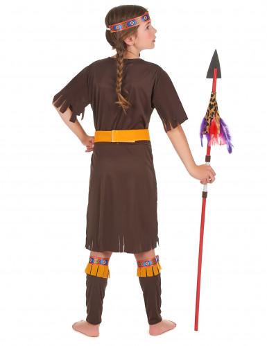 Geel en beige indiaan kostuum voor kinderen-2