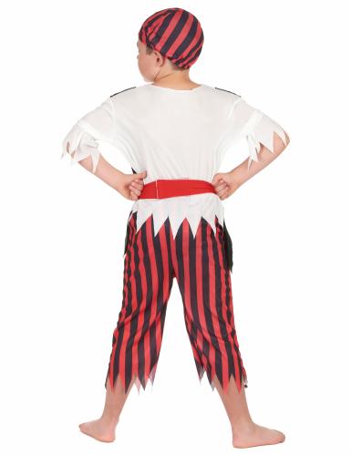 Zwart en rood piraten kostuum voor jongens-2