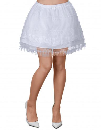 Witte rok voor volwassenen.