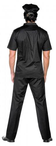 Zwart politie agent kostuum voor mannen-1