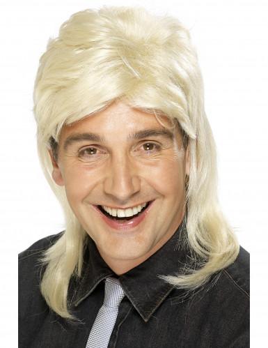 Blonde rocksterpruik voor mannen