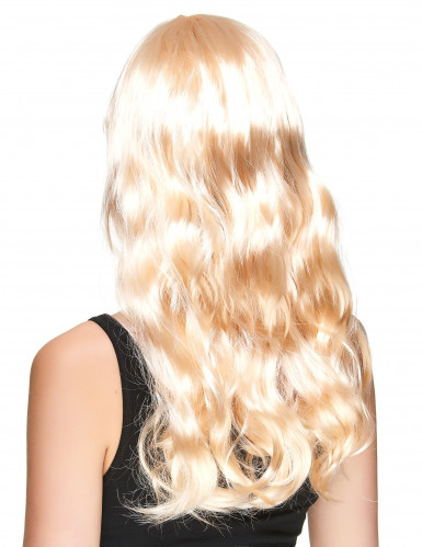 Lange blonde pruik voor dames-1
