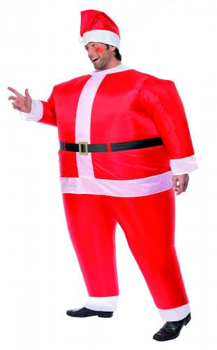 Opblaasbaar kerstman kostuum voor volwassenen