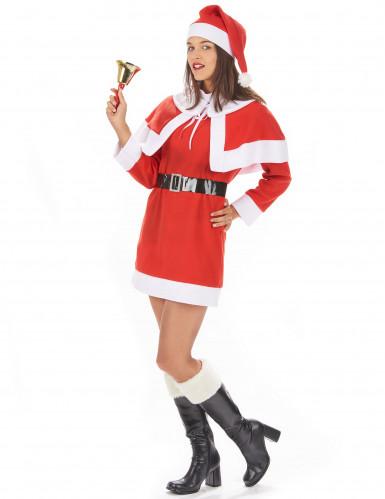 Traditioneel kerstvrouw kostuum voor dames-1