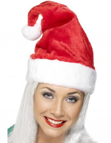 Fluweelachtige rode kerstmuts