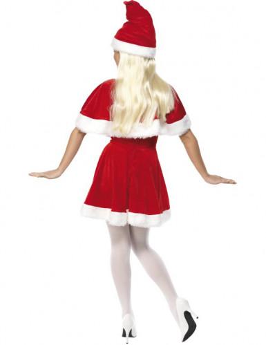 Kerstvrouw kostuum met bont voor vrouwen-1