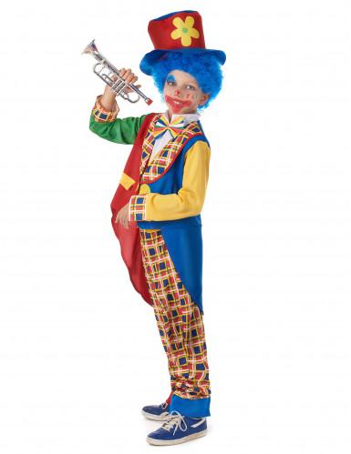 Geruit clown pak voor kinderen-1