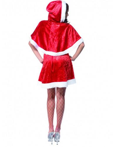 Sexy rood kerstvrouwpak met nepbont voor dames-1