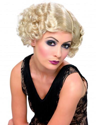 Blonde cabaretpruik voor dames