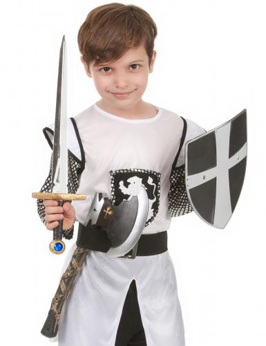 Schild zwaard en bijl van middeleeuwse ridder-1