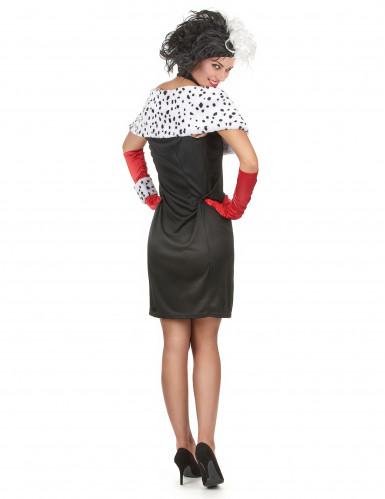 Sexy Cruella kostuum voor vrouwen-2