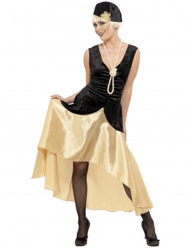 Satijnachtig charleston kostuum voor vrouwen